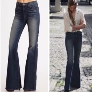 J Brand Lotus High Rise Long Flare Jeans